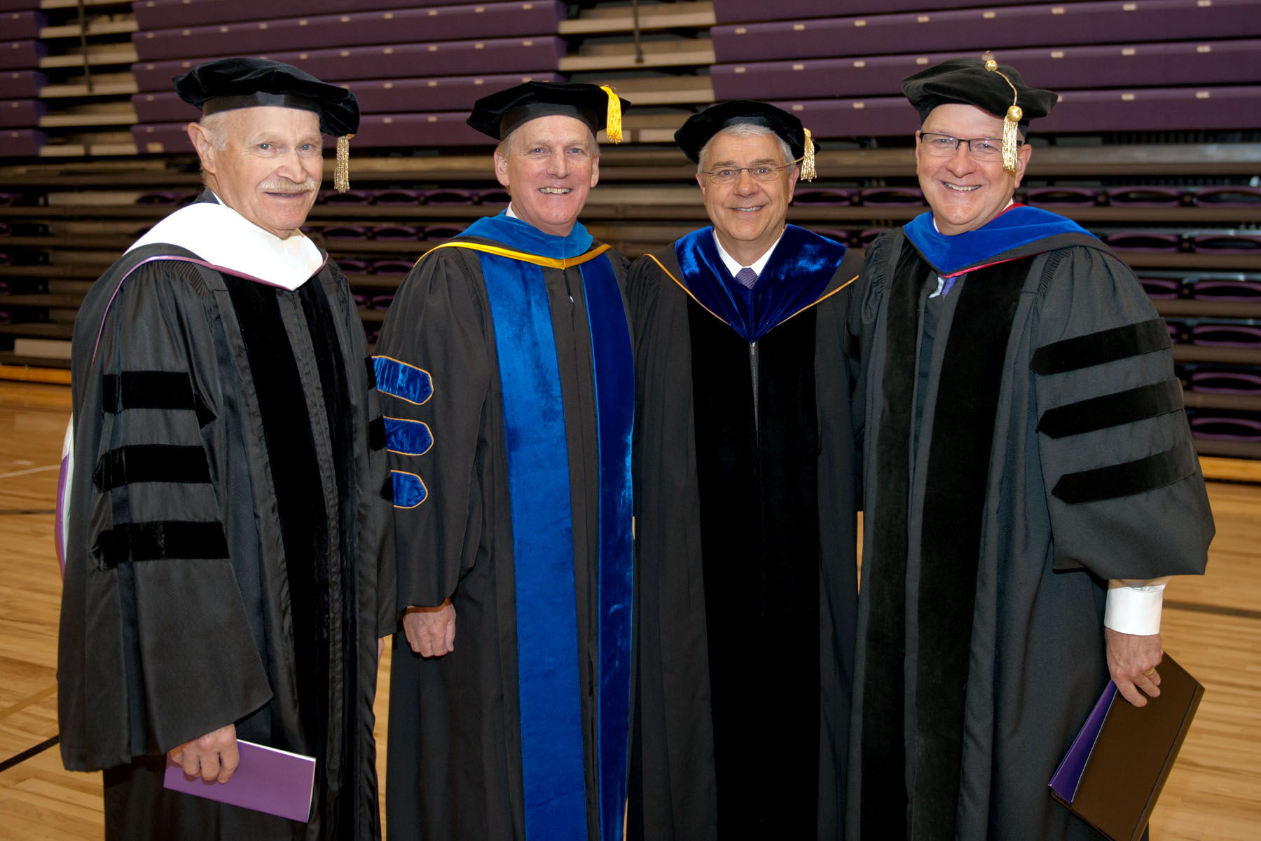 University of Mount Union President Dick Merriman with former presidents Dr. Harold Kolenbrander, Dr. Jack Ewing, and Dr. Richard Giese