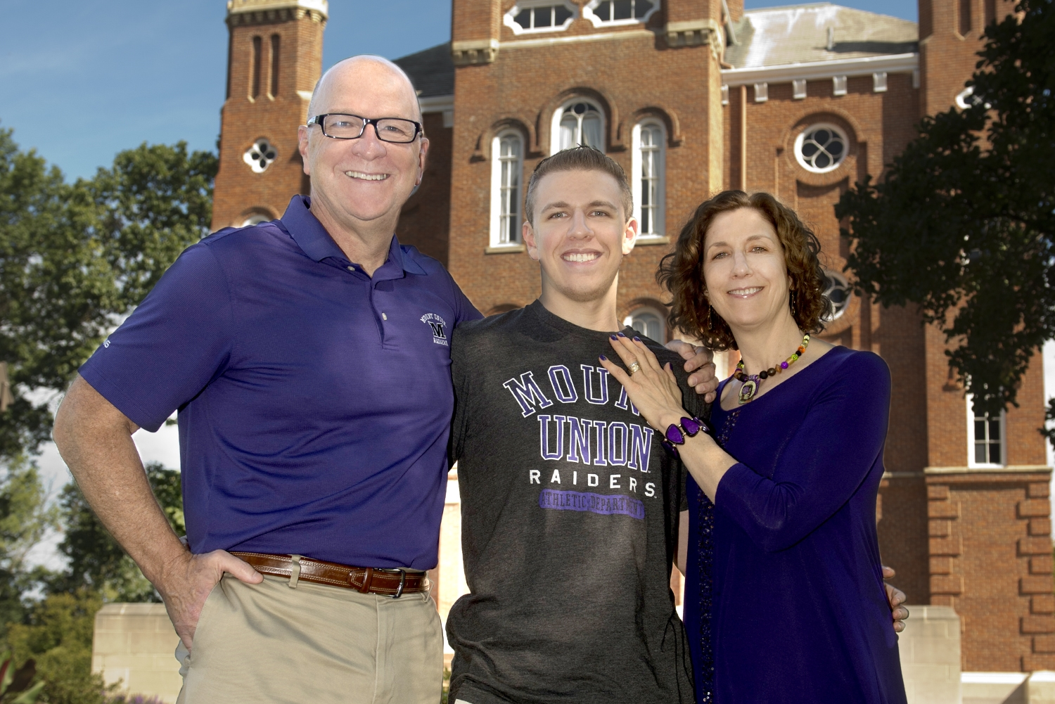 University of Mount Union President Dick Merriman, his wife Margot Kelman, and their son Aaron