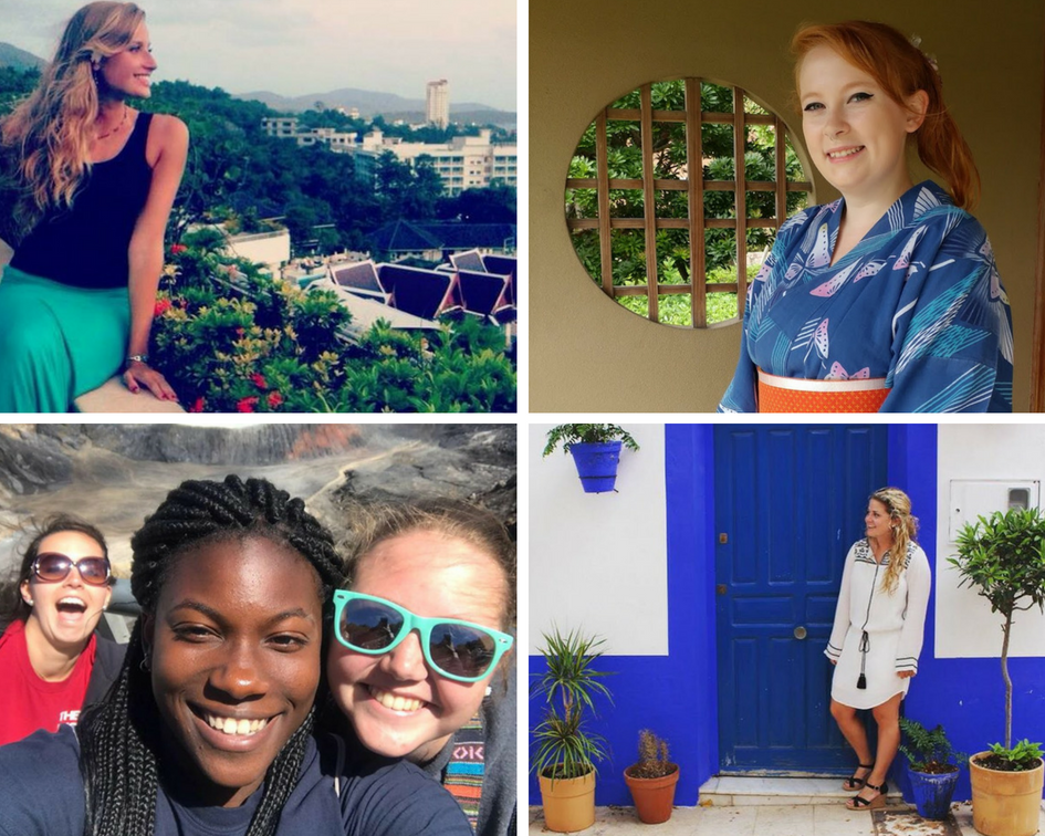 Study abroad student collage