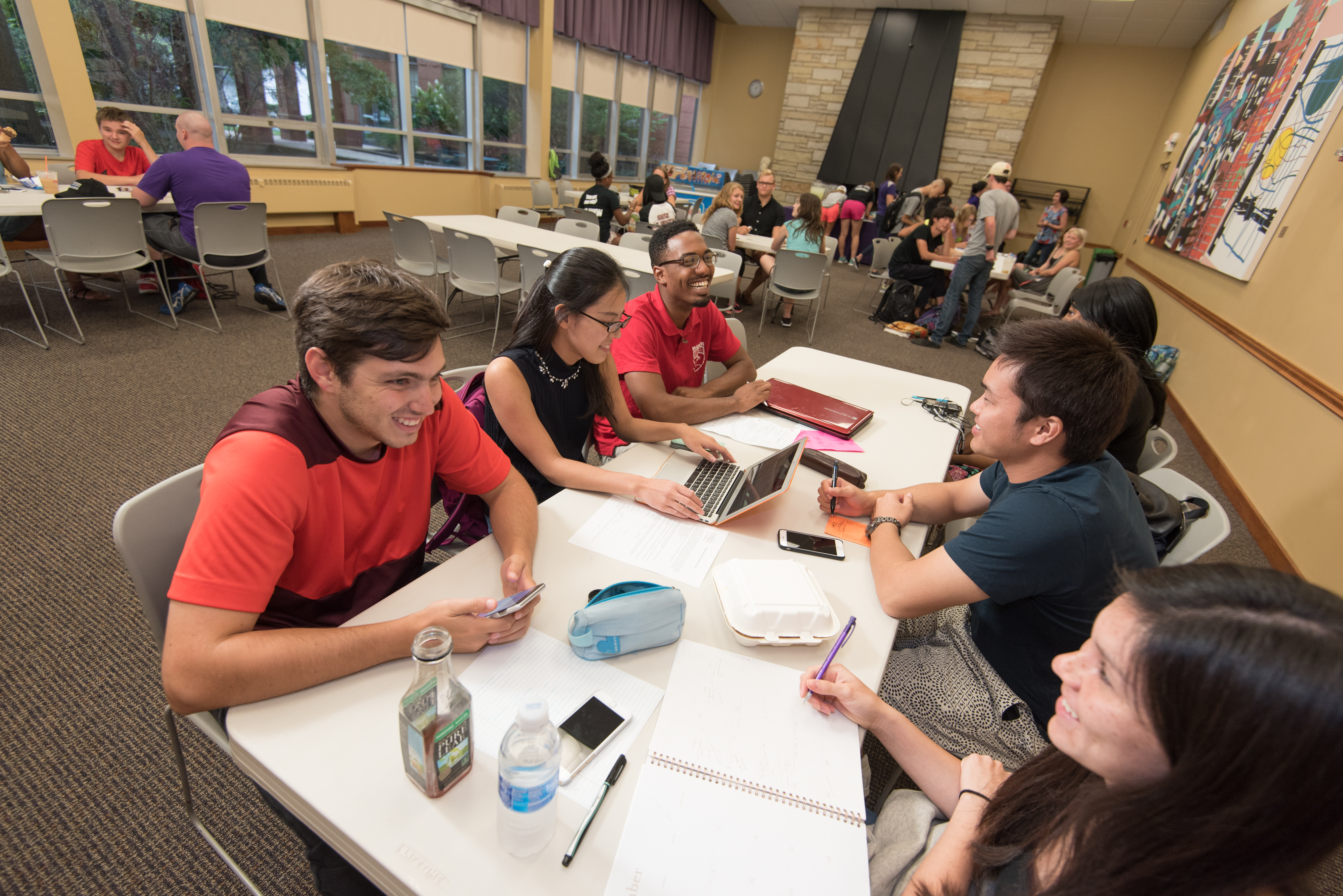 University of Mount Union students in meeting