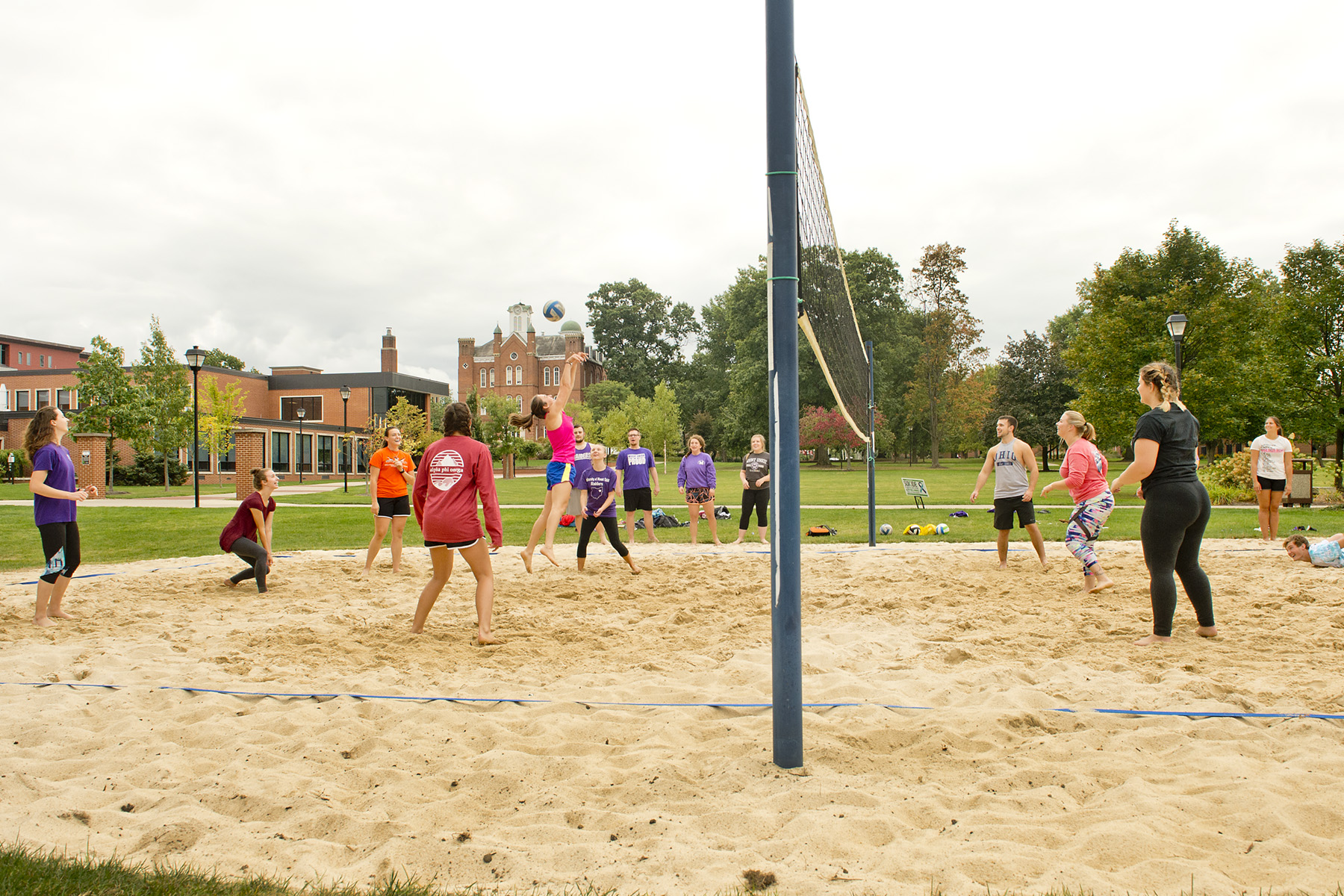 University of Mount Union Students Playing Volleyball
