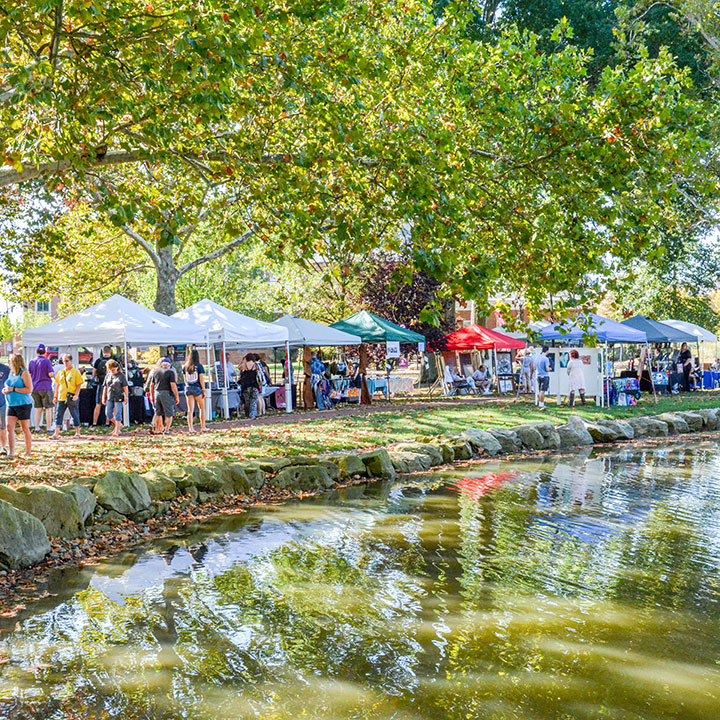 Campus Lakes during the 53rd Annual Artfest
