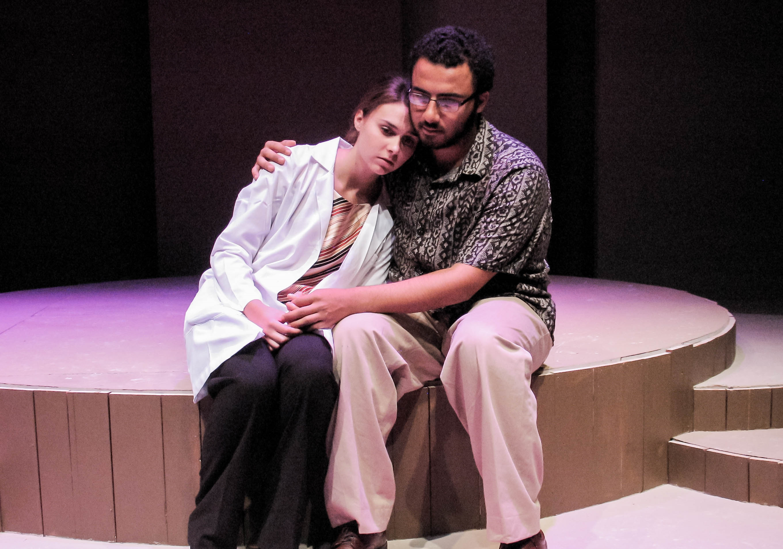 Mount Union students performing on stage in Informed Consent