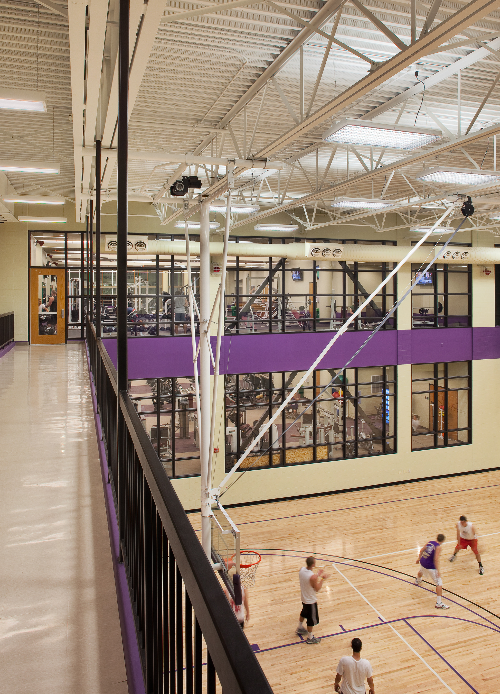 Aux Gym. Interior of MAAC