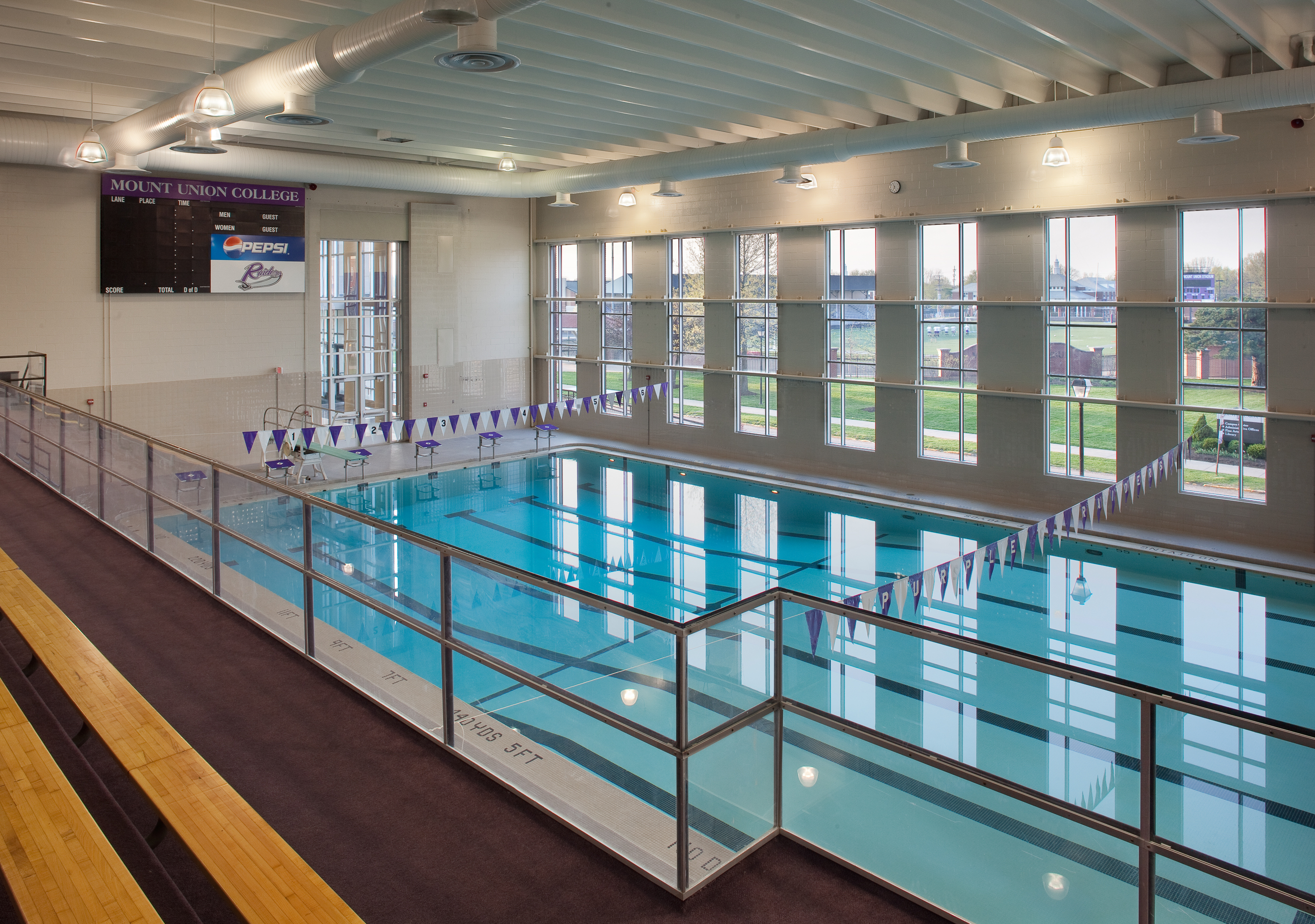 Natatorium. Interior of MAAC Pool