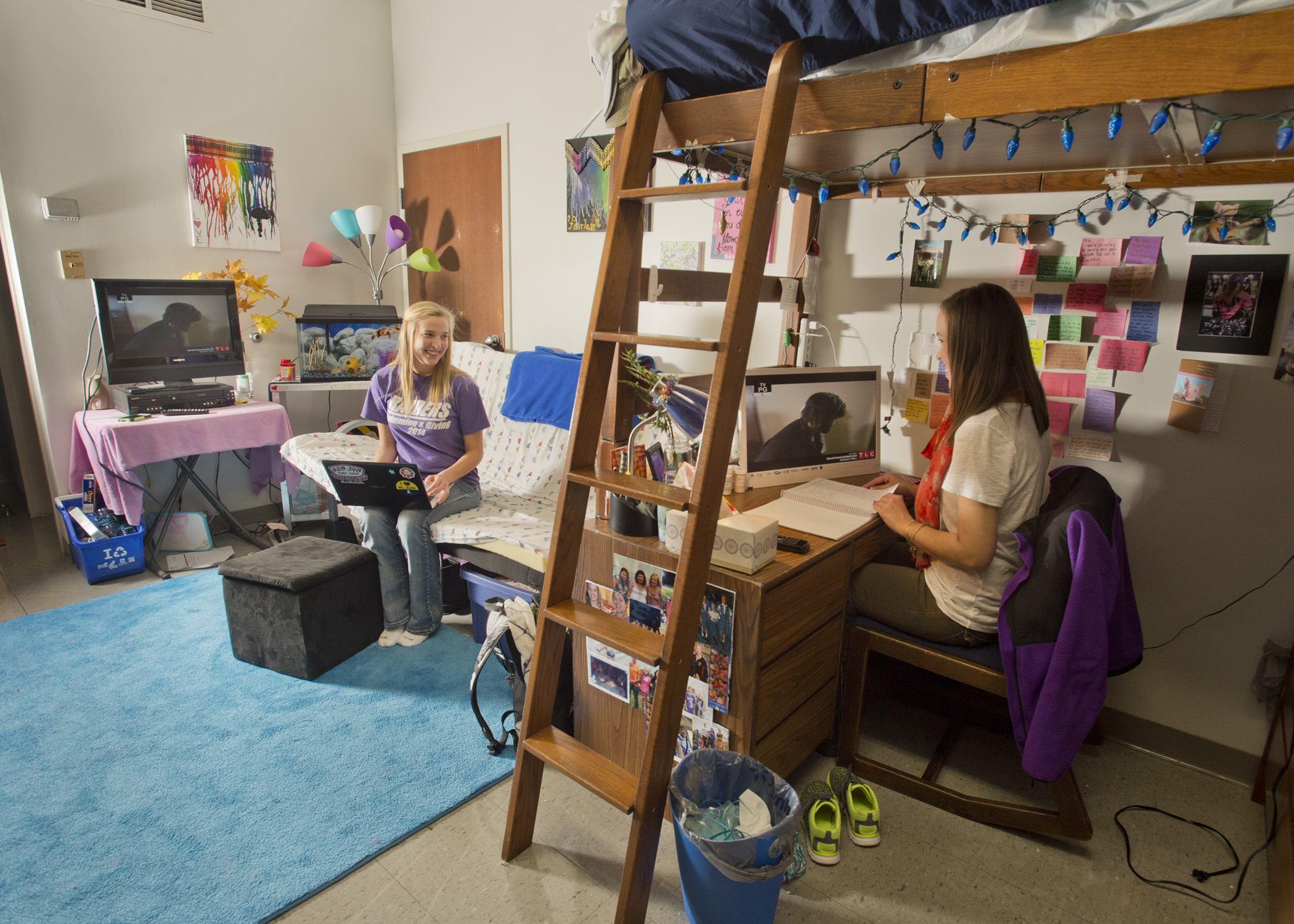 Interior of Suite style housing option at Mount Union