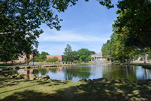 University of Mount Union campus lakes.
