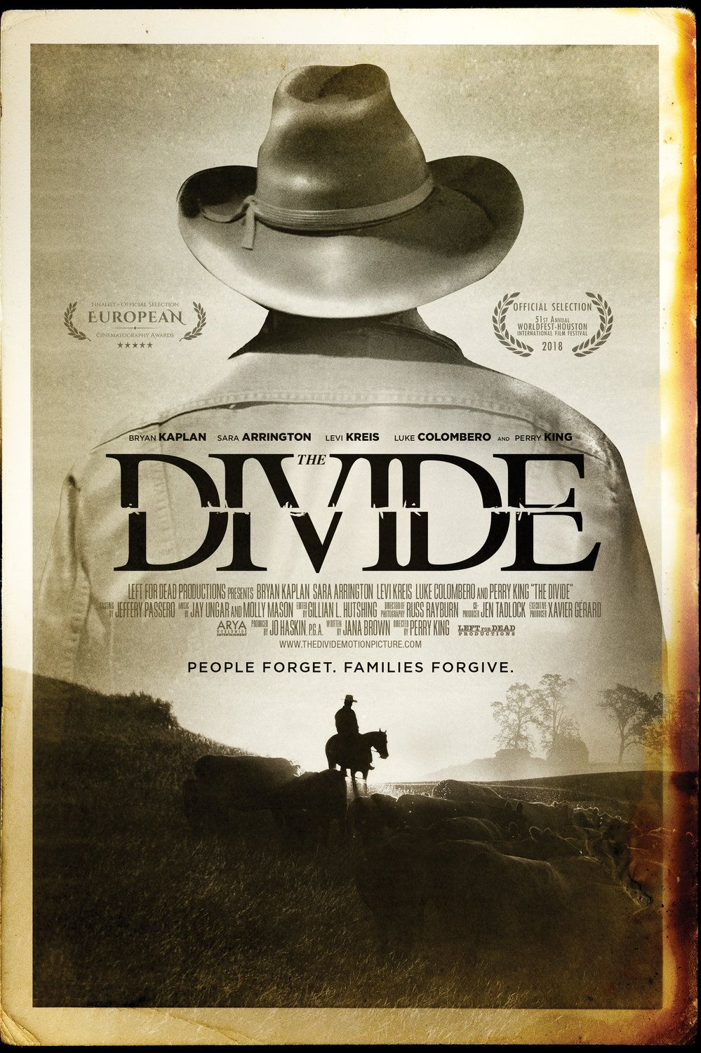 The Divide, Cover of Perry King movie title