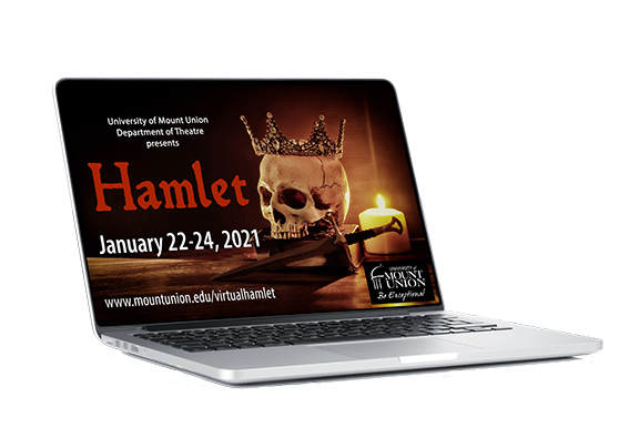 Hamlet poster image on laptop