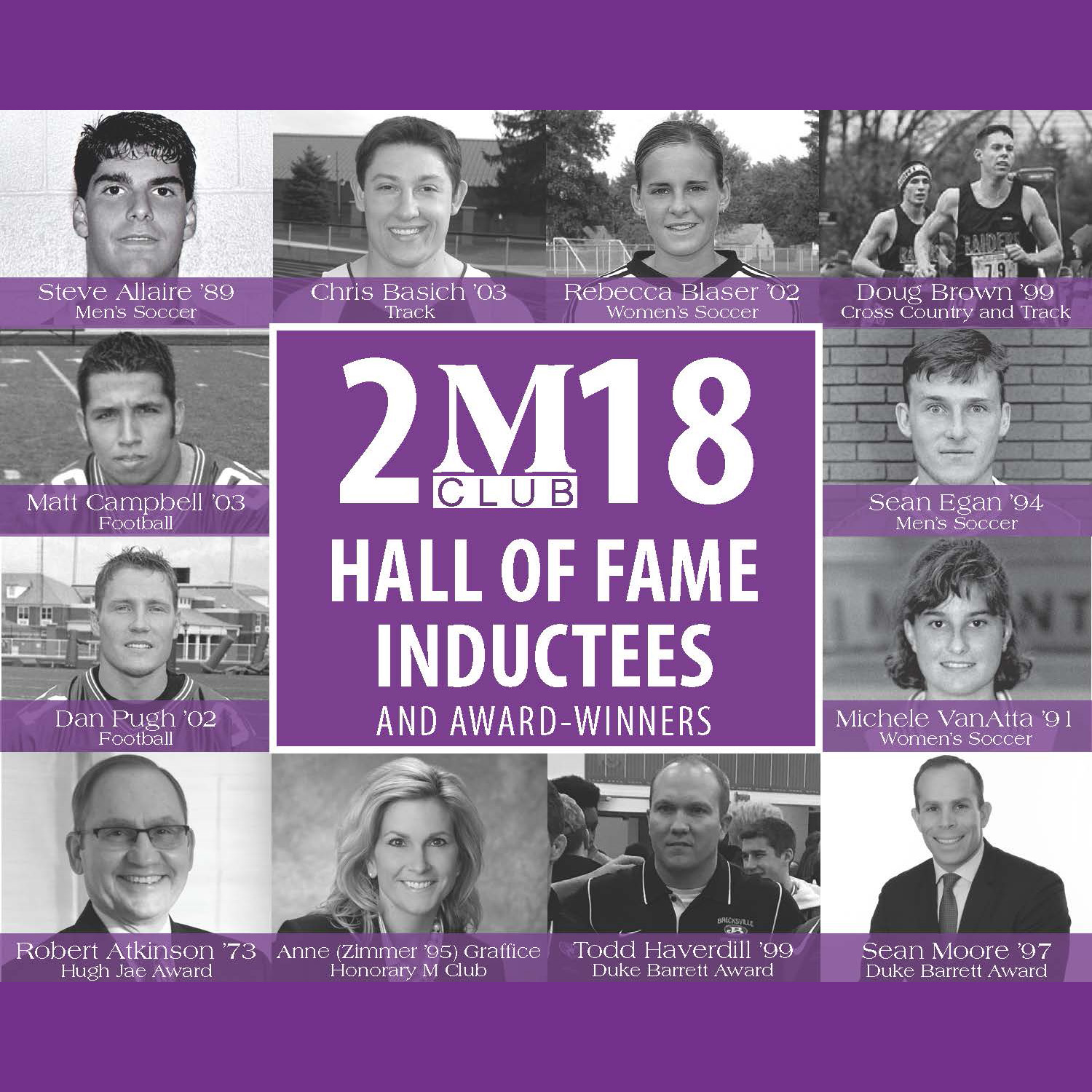 M Club Hall of Fame Induction 2018