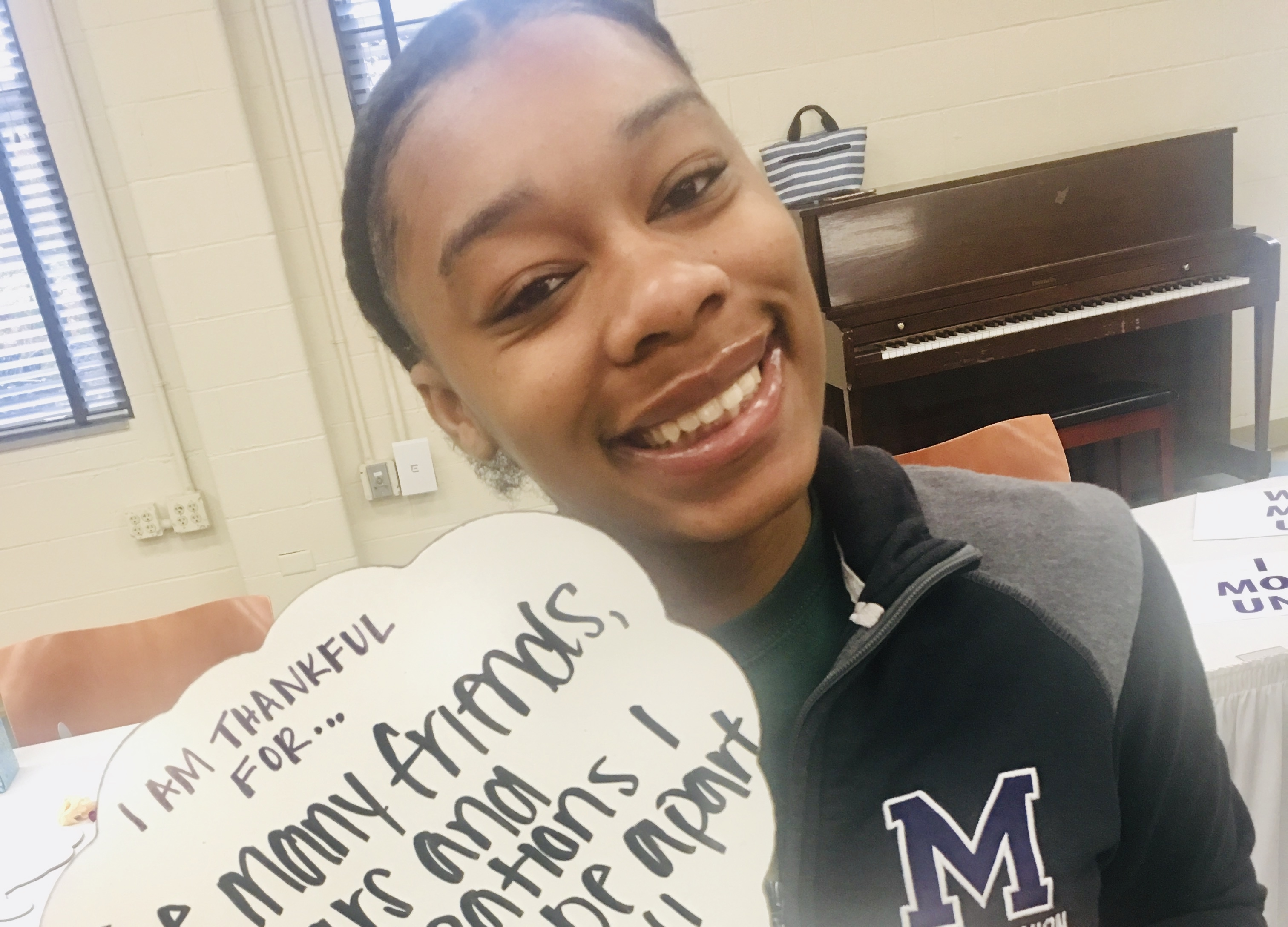 Mount Union student Mani shares why she is thankful for donors